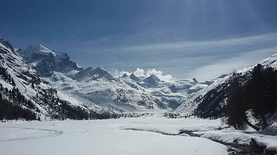 Domenica 24 Febbraio 2019:  Val Roseg: sentiero invernale ai piedi del Bernina